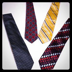 Four Men's Ties